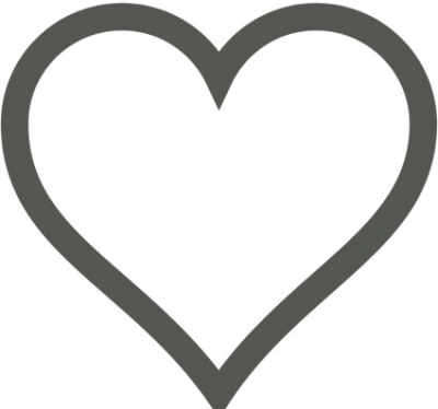 Free vector Vector clip art  Heart Icon (Deselected)