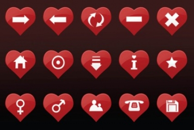Free vector Vector icon  Heart Icons