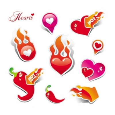 Free vector Vector Heart  heart love label 02 vector