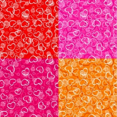Free vector Vector background  heartshaped pattern vector background