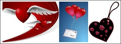 Free vector Vector Heart  Heart-shaped theme of the vector material-2