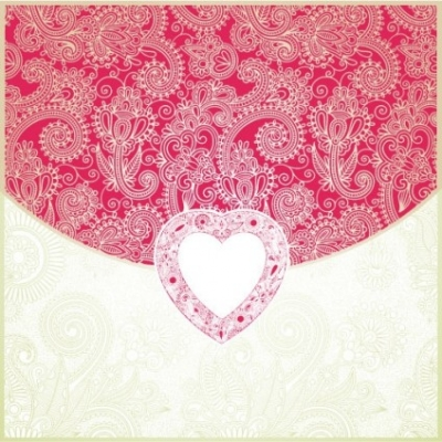 Free vector Vector Heart  heartshaped valentine39s day card 04 vector