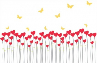 Free vector Vector Heart  heartshaped vector butterfly can