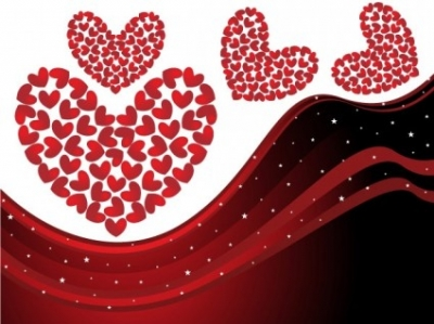 Free vector Vector background  heart-shaped vector dynamic lines background