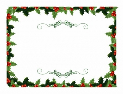 Free vector Vector misc  Holly Christmas Invite