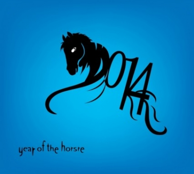 Free vector Vector misc  Horse 2014 year chinese symbol