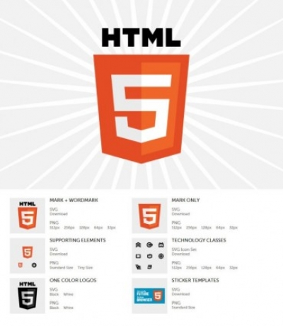 Free vector Vector logo  html5 newly released logo vector and png