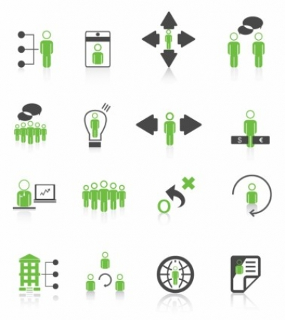 Free vector Vector icon  human resource management icons