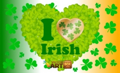 Free vector Vector Heart  I Love Irish
