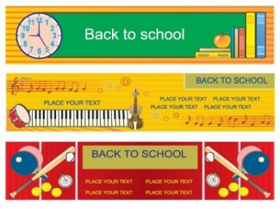 Free vector Vector banner  illustration style of education theme vector banner design templates 3