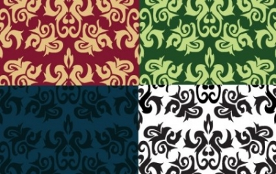 Free vector Vector pattern  Imperial Leaf Pattern