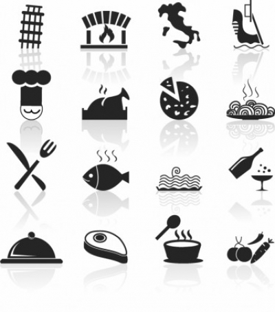 Free vector Vector icon  Italian Food and Restaurant icons