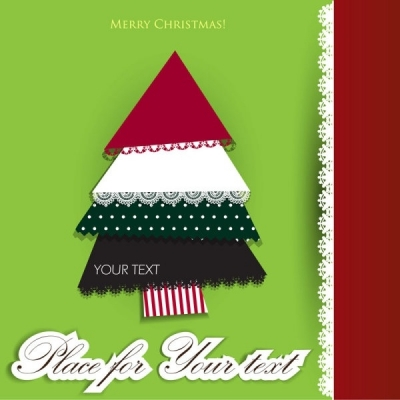 Free vector Vector Christmas  lace christmas tree puzzle 03 vector