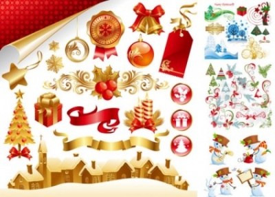 Free vector Vector Christmas  late vector beautiful christmas