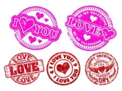 Free vector Vector Heart  love badge vector