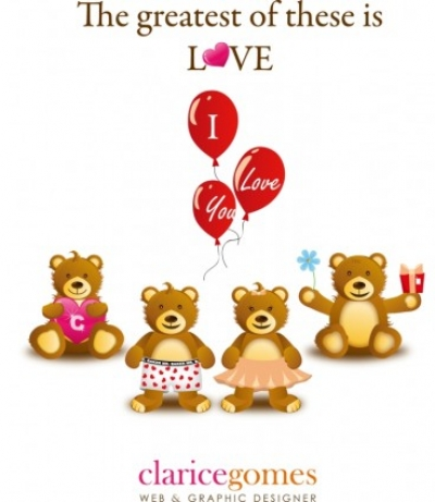 Free vector Vector Heart  Love Bears