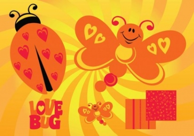Free vector Vector Heart  Love Butterfly