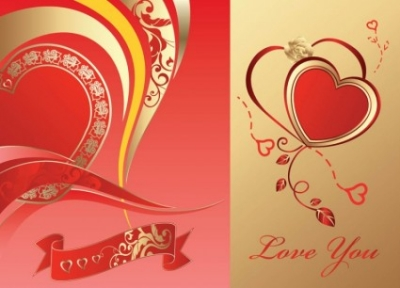 Free vector Vector Heart  Love Card