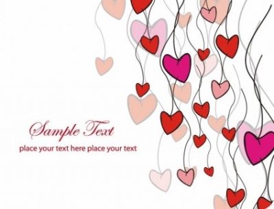 Free vector Vector Heart  Love Card Vector Illustration