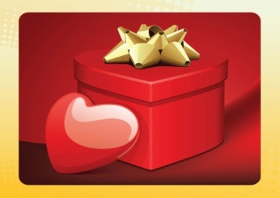 Free vector Vector Heart  Love Gift Box