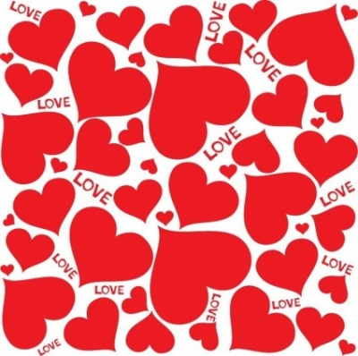 Free vector Vector background  Love Hearts Vector Background