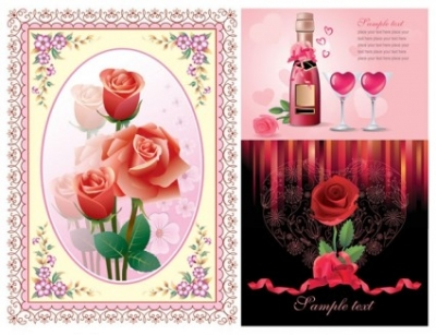Free vector Vector Heart  love roses vector