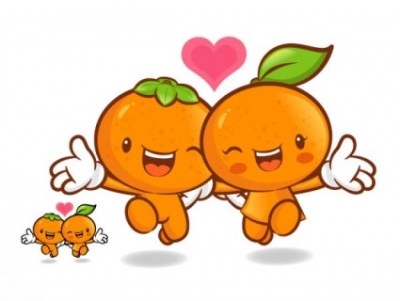 Free vector Vector cartoon  love the cartoon super fruits vector 9