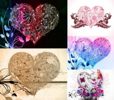 Free vector Vector pattern  love the composition pattern vector
