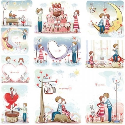 Free vector Vector misc  love the small couple vector 3140