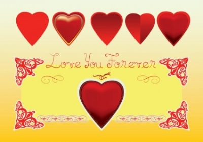 Free vector Vector Heart  Love You Forever