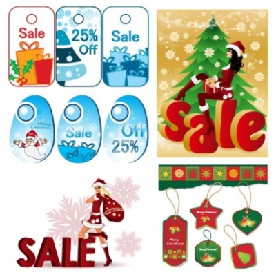 Free vector Vector Christmas  lovely christmas discount sales vector