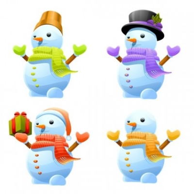 Free vector Vector Christmas  lovely christmas snowman vector
