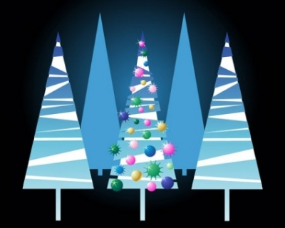 Free vector Vector Christmas  lovely christmas tree vector