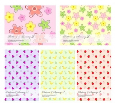 Free vector Vector flower  lovely fruit and flowers vector background