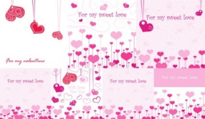 Free vector Vector Heart  lovely romantic valentine day greeting card vector