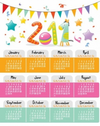 Free vector Vector Heart  Lovely Style Calendar for 2011 Vector Graphic