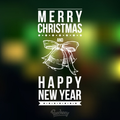 Merry christmas and happy new year Free vector 546.61KB