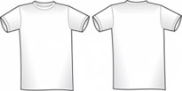 Free vector Vector misc  2 Free Blank Shirt Templates