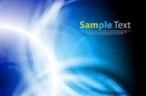 Abstract Blue Smooth Twist Light Vector Background