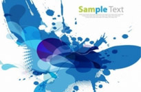 Blue Design Abstract Background Vectror Graphic