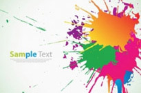 Colorful Ink Splashes Background Vector Graphic