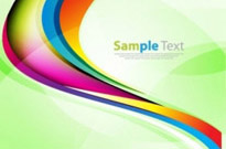 Colorful Rainbow Wave Background Vector Graphic