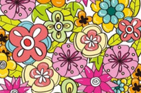 Flower Background for Design Vector Graphic