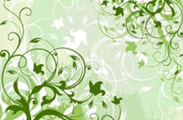 Green Floral Background Vector Graphic