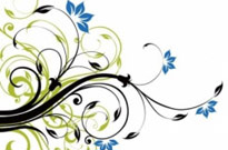 Swirl Floral Decoration Background Vector Graphic