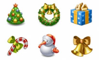 Free X-mas 2009 Icon Set