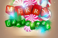 Free vector Vector background  a gorgeous christmas elements background 01 vector