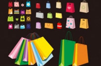 Free vector Vector clip art  a variety of colorful clip art bag bags