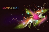 Free vector Vector floral  Abstract Floral Swirl Background