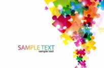 Free vector Vector abstract  Abstract Puzzle Background